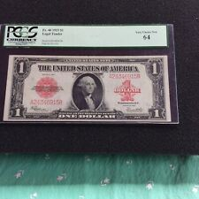 1923 $1 Legal Tender FR-40 Red Seal Graded PCGS Very Choice New 64