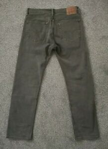 Mens Levis 505 Grey Regular Fit Jeans - W33 L32