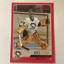 03/04 Marc-Andre Fleury Topps O-Pee-Chee OPC Parallel RED #53/100 RC Rookie Card