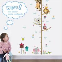 Cartoon Tier Elefant Höhenmessung Wand Sticker Kind Wachstum Chart Kinderzimmer