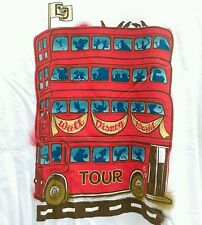 Walt Disney World Theme Park cartoon Triple Decker Red Tour Bus t-shirt Large L