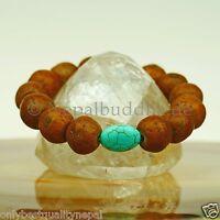 Bodhi Bracelet Turquoise Grains 14mm Nature Bouddhisme Buddha s10