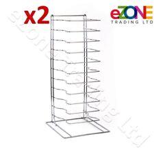 2x Pizza Pan Rack 11-Slot Shelf for Stacking Thin Pans Trays Screen Separator