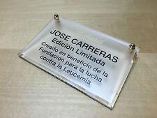 Used - Placa Exposant Plaque CHOPARD - JOSE CARRERAS Edición Limitada