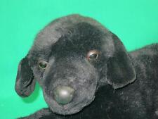 Big Fao Schwarz Black Labrador Puppy Dog Realistic Lays Down Plush Stuffed