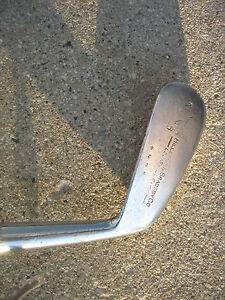 WOOD SHAFT mid iron  antique golf club Louisville slugger HILLERICH & BRADSBY