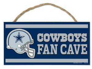 Cowboys De Dallas Insegna IN Legno Porta 25 CM, NFL Calcio, Fan Cave Wood Sign