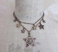 Danese Pellegrino pagane Star Collana Vintage Rame & smalto rosa swarovski NUOVO CON ETICHETTA