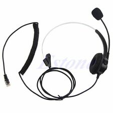 4-Pin Call Center Corded Operator Telephone Headset Monaural Headphone RJ11 New
