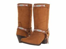 Dingo Womens Cowboy Boot Embroidery Martine Rust Brown Copper 7 Medium NEW NIB