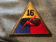 """Us Army 16th Armored Division 2"""" Hat Size Patch"""