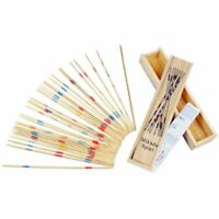 Baby Educational Wooden Traditional Mikado Spiel Pick Up Sticks With Box Game UG