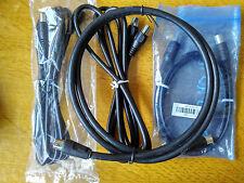 Antena de TV RF 1 M LEAD enchufe macho a hembra Cable de extensión de coaxial