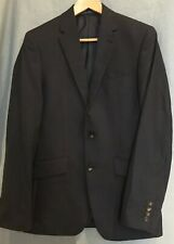 Mens Navy Blue Blazer Jacket M&S Machine Washable Medium Size 86cm 34""