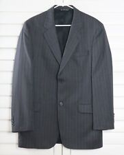 PAUL DIONE Mens Brown Pin Striped Structured Blazer Jacket Suit Size 42 L