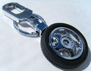 Custom Car Wheel Tyre Chrome Metal Keyring