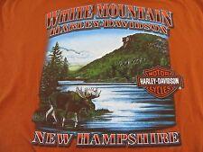 HARLEY DAVIDSON White Mountains NH Pocket T Shirt Size XL(NWOT)