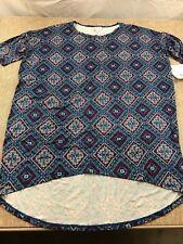 womens ladies LULAROE IRMA tunic shirt NEW size S NWT blue red yellow pattern