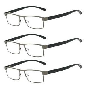 3 Pack Reading Glasses Mens Ladies Reading Glasses Spring Hinges 1.0 2.0 3.0 4.0