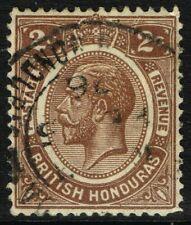 SG 127 BRTITISH HONDURAS 1923 - 2c BROWN - USED
