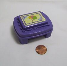 Fisher Price Little People PURPLE BIRTHDAY TABLE for HOUSE with BALLOON CAKE