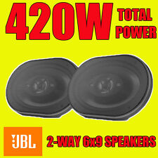"JBL 6""x9"" 6x9 420W total power, 3-way car rear deck oval shelf speakers grills"