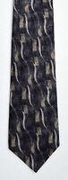 Men's New Silk Neck Tie, Classic, Blue Gray wave design by Stafford