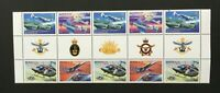 1996 Australia Military, Aviation SG 1578/81 gutter 10 muh with all insignia's