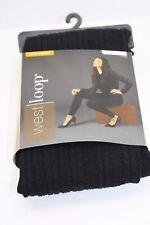 West Loop Leggings Pants Women's Junior's Pants Size 4-8 Fleece Black Textured