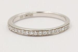 NEW  A Jaffe 18K White Gold Diamond Wedding Band MR1567/12  .12 ctw