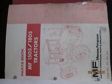 Massey-Ferguson MF 1505 -1805 Series Tractors Parts Book Manual Original 1978
