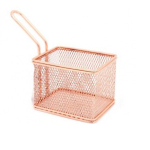 8 Cm Copper Plated Chip Basket