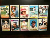 1970's Topps, 10 Baseball Cards-Pete Rose EXNM-NO CREASES-FREE SHIP+2 free cards