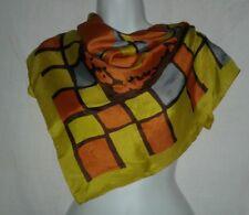 Desco Celebritees Vintage Scarf Geometric Rayon Silk Hand Rolled Edge Ladies