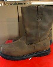 Steel Toe Wellington Work Boots Waterproof Wolverine Men's Iron Ridge Size 11