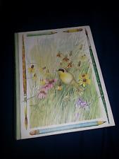 Hallmark Marjolein Bastin Book-Shaped Treasure Box Wildflowers Tie Side Closure!