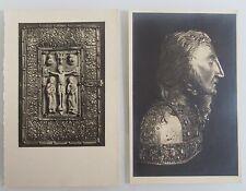 2x alte Postkarte ~1930 KÖLN Diözesan Museum Reliquien Motive Karten ungelaufen