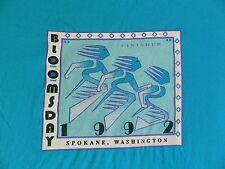 vtg Nike Bloomsday T Shirt 90s 1992 run race finisher Teal tee XXL 50/50 Spokane
