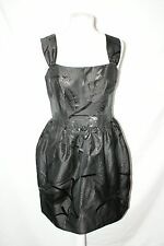 WHISTLES Little Black Dress size 12 corset tulip design skirt part