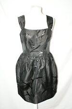 WHISTLES Little Black Dress size 12 corset tulip design skirt part