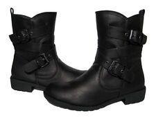 New Women's Biker BOOTS Black Winter Snow Riding shoes Ladies size 9