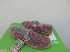 SANUK RED CABRIO CHILL FAUX FUR SIDEWALK SURFER SHOES, SIZE US 9/ EUR 40 ~ NWT