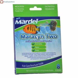 LM Mardel Maracyn Two Antibacterial Aquarium Medication 8 Count - (8 x 0.021 oz)