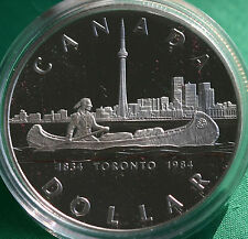 1984 Canadian $1 Toronto Sesquicentennial Canada Proof One Dollar Coin ONLY