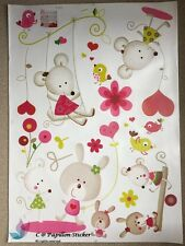 Pink Micky Mouse Animal Nursery Kids baby Removable wall sticker/Decal