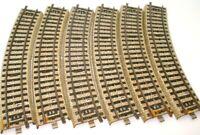 MARKLIN HO GAUGE TINPLATE 6 PIECES 3 RAIL 200 MM CURVED TRACK