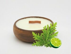 Citronella & Lime in Reusable Bowl - Wooden Wick - Soy Wax