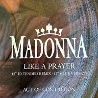 "Vintage 1989 Madonna Like a Prayer 12"" UK Picture Disc Sire Sticker W7539tp Mint"