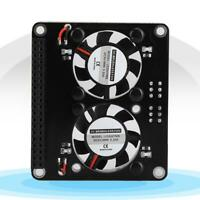 GPIO Extension Development Board Dual LED Cooling Fan for Raspberry Pi 4B/3B+/3B