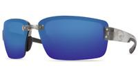Costa Del Mar Galveston Sunglasses GV 18 Silver / Blue 580P Mirror Plastic